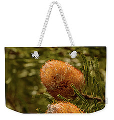 Weekender Tote Bag featuring the photograph Banksia by Werner Padarin
