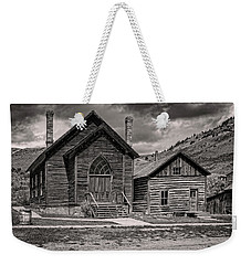 Weekender Tote Bag featuring the photograph Bannack Church by Scott Read