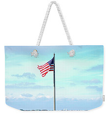 Weekender Tote Bag featuring the photograph Banner Of Freedom by Lon Casler Bixby