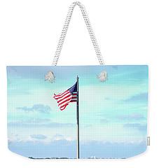 Banner Of Freedom Weekender Tote Bag by Lon Casler Bixby