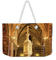 Weekender Tote Bag featuring the photograph Baptistery Siena Italy by Joan Carroll