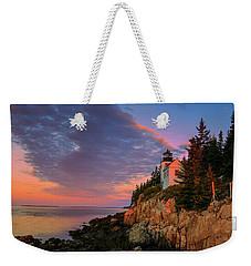 Bar Harbor Light Weekender Tote Bag