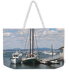 Bar Harbor Waterfront And Boats Weekender Tote Bag