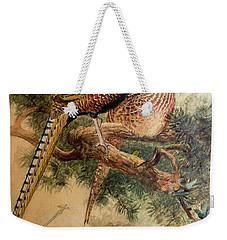 Bar-tailed Pheasant Weekender Tote Bag