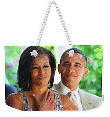 Barack And Michelle Obama Weekender Tote Bag