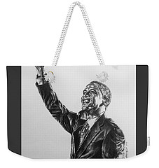 Weekender Tote Bag featuring the painting Barack Obama by Darryl Matthews
