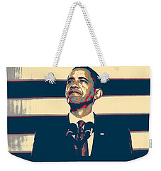 Barack Obama With American Flag 4 Weekender Tote Bag