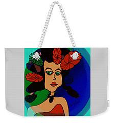 Weekender Tote Bag featuring the digital art Barbara Ann by Iris Gelbart
