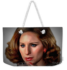 Barbara Streisand Weekender Tote Bag by Sergey Lukashin
