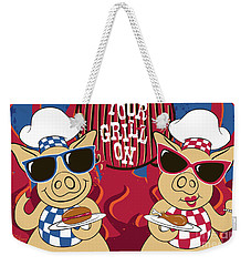 Barbecue Pigs Weekender Tote Bag