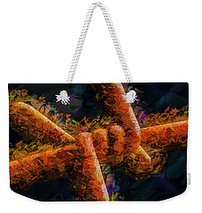 Weekender Tote Bag featuring the photograph Barbed by Paul Wear