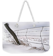 Barbed Wire And Hoar Frost Weekender Tote Bag