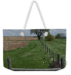 Barbed Wire Fence Line Weekender Tote Bag by Renie Rutten