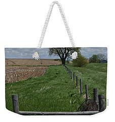 Barbed Wire Fence Line Weekender Tote Bag