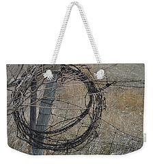 Barbed Wire Weekender Tote Bag by Renie Rutten