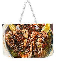 Barbequed Shrimp Weekender Tote Bag