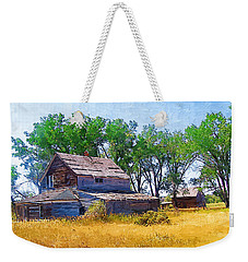 Weekender Tote Bag featuring the photograph Barber Homestead by Susan Kinney