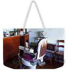 Barber - Old-fashioned Barber Chair Weekender Tote Bag