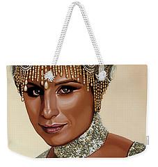 Barbra Streisand 2 Weekender Tote Bag by Paul Meijering