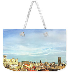 Weekender Tote Bag featuring the photograph Barcelona Rooftops by Colleen Kammerer