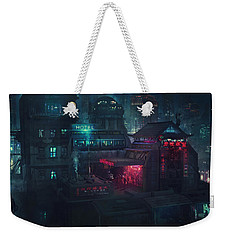Barcelona Smoke And Neons Eixample Weekender Tote Bag