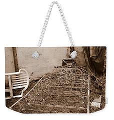 Weekender Tote Bag featuring the photograph Bare Bones Miners Camp by Marie Neder