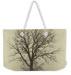 Bare Tree In Fog- Nik Filter Weekender Tote Bag