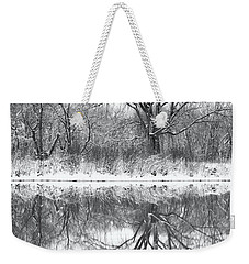 Weekender Tote Bag featuring the photograph Bare Trees by Darren White