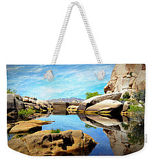 Weekender Tote Bag featuring the photograph Barker Dam - Joshua Tree National Park by Glenn McCarthy Art and Photography