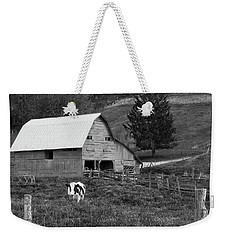 Weekender Tote Bag featuring the photograph Barn 4 by Mike McGlothlen