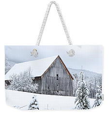 Barn After Snow Weekender Tote Bag