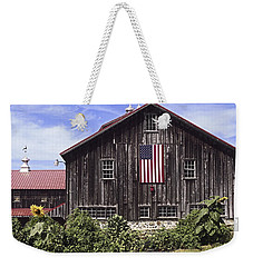 Barn And American Flag Weekender Tote Bag
