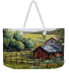 Barn And Field Weekender Tote Bag