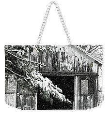 Barn Door Darkly Weekender Tote Bag