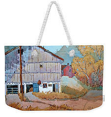 Barn Door Whimsy Weekender Tote Bag