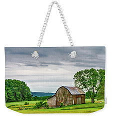 Weekender Tote Bag featuring the photograph Barn In Bliss Township by Bill Gallagher