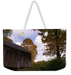 Barn In Fall Weekender Tote Bag by Lois Lepisto