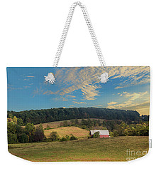 Barn In Field Weekender Tote Bag
