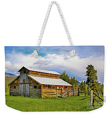 Barn In Rocky Mountains Weekender Tote Bag