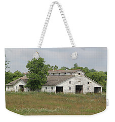 Weekender Tote Bag featuring the photograph Barn In The Field 948 by Ericamaxine Price