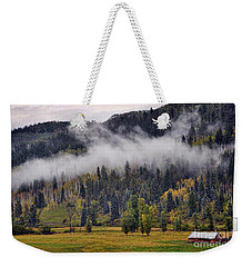 Barn In The Mist Weekender Tote Bag