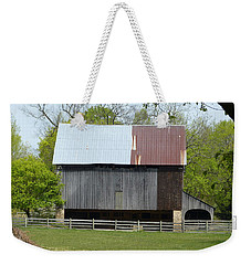 Barn Of Fair Hill Weekender Tote Bag by Donald C Morgan