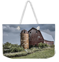 Barn On Hill Weekender Tote Bag