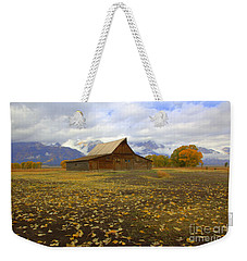Barn On Mormon Row Utah Weekender Tote Bag