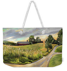Barn On The Ridge In West Newbury Vermont Weekender Tote Bag