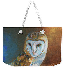Barn Owl Blue Weekender Tote Bag