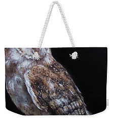 Barn Owl Weekender Tote Bag by Cherise Foster