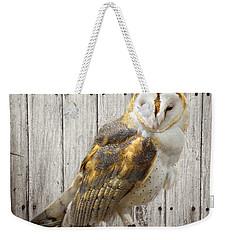 Barn Owl Weekender Tote Bag by Kathy M Krause