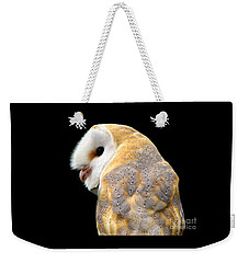 Weekender Tote Bag featuring the photograph Barn Owl by Rose Santuci-Sofranko
