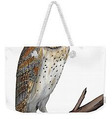Barn Owl Screech Owl Tyto Alba - Effraie Des Clochers- Lechuza Comun- Tornuggla - Nationalpark Eifel Weekender Tote Bag